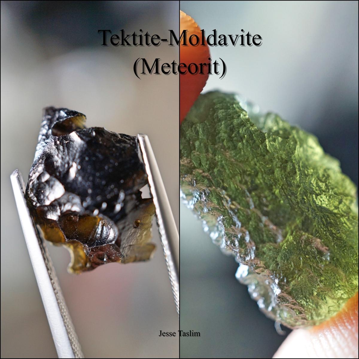 Tektite Moldavite (Meteorit)