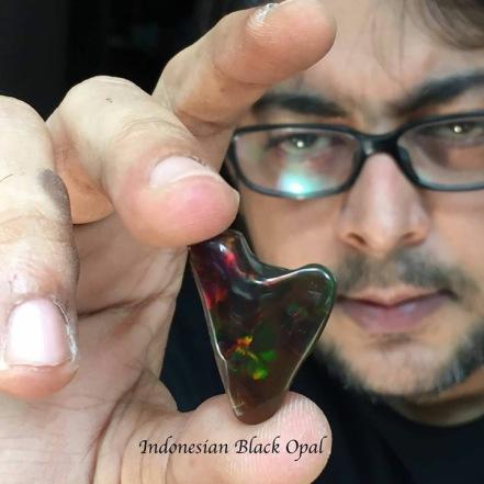 Indonesian Black Opal